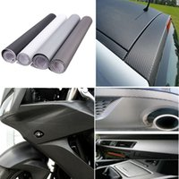 Wholesale 12x60inch DIY D Carbon Fiber Vinyl Wrap Film Car Vehicle Sticker Sheet Roll Waterproof x152cm order lt no tracking