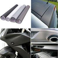 achat en gros de carbon fiber vinyl-Fiche Autocollant véhicule 12x60inch bricolage 3D en fibre de carbone vinyle Wrap Film Roll voiture afin de 30x152cm étanche $ 15 pas de suivi