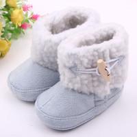 Wholesale Baby Boots Infant Snow Boots Kid Antiskid Soft Sole Shoes Children Winter Boots Shoes Size K045