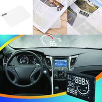 Wholesale Hot Car HUD Vehicle mounted Head Up Display System OBD II Fuel Consumption Overspeed display special reflective film