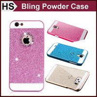 For Apple iPhone   Glitter Powder Hard Case For Galaxy S4 S5 S6 NOTE 3 4 A5 A7 A3 iPhone 5 5S 6 Plus , Bling Luxury Fashion Back Skin Cover DHL FedEx shipping