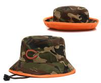 Wholesale Cheap Wholesale Camo Hats - Camo Buckets Hats Football Barrel Caps 2014 New Arrival Fishing Hats High Quality Mens Fisherman Caps Cheap Sports Hats High Quality Cap Hat