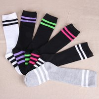 Wholesale New Hot Children Knee Casual Socks Long Socks Fashion Girl Boys colorful Striped Football Sports Socks High Tube Socks Gifts