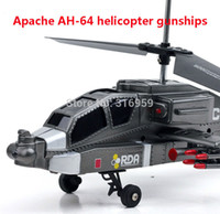 apache ah - RC Helicopter U S Apache helicopter AH gunships Aircraft Channel Radio Control Gyro Helicopter Model RTF electronic Toy