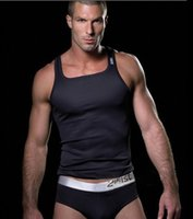 Wholesale hot sale mens tank tops bodybuilding men s tight elastic sports vest male undershirt tank top