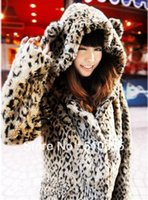 Wholesale high quality thick rabbit fur leopard v neck long covered button cute fur Y FG1511