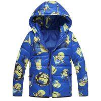 Wholesale Minion Jacket Despicable Me Boys Girls Winter Coat Baby Minion Clothes Winter Down Coat Warm Baby Snowsuit Children Hooded Coat