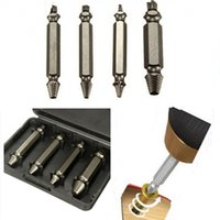 Wholesale 2015 New Hot Sale Screw Extractor Drill Bits Guide Set Broken Bolt Remover Easy Out Set cm Long