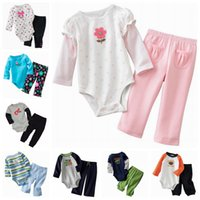 Wholesale Jumping beans baby Rompers sets girls long sleevle rompers pants suits jumpsuits Baby Pajamas