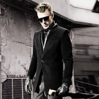 arrival worsted leisure - Fall winter men s clothing new brand fashion arrival trench wool coat thicken Leisure woolen outerwear S XL
