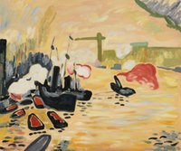 andre derain art - Wall art modern Canvas Painting oil View of the Thames by Andre Derain High Quality Handmade