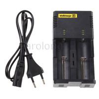 Wholesale NITECORE Intellicharger I2 Universal Charger for Battery E Cigarette Li ion Ni MH Ni Cd Battery Charger Dual Charger