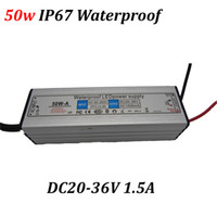 Wholesale 50w led driver for w led grow chip IP67 waterproof DC20 V MA constanct current power supply