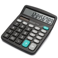 Wholesale New Arrival Portable Office Commercial Tool Battery or Solar in1 Powered Digit Electronic Calculator with Big Button