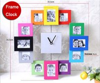 album display - Funlife cm in Picture Multi Photo Frame Display Wall Clock Time Family Album Colorful Color Modern wc1341