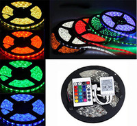 Wholesale White Bule Yellow Red Green m RGB LED strip light tape diode leds non waterproof ip60 Key controller