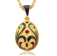 beijing gift - facial makeup in Beijing Opera Faberge Egg Charms Handcrafted Enamel crystal Easter Egg Locket for Russian Style Pendant Necklace