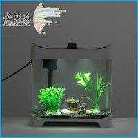 Wholesale Hot selling AT mini aquarium fish tank aquarium creative process