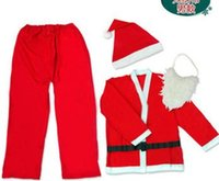 average clothing size - FBH050863 Holiday decorations Non woven adult men s clothing Average size Santa Claus clothes