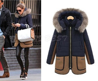 Wholesale 2016 New Cheap Parkas Women Fall Winter Coats Outerwear Cotton Down Fur thickening Coat Female Overcoat Jacket Plus Size