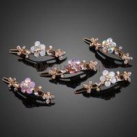 Wholesale Graceful Floral Leaves Hairpin Updo Hairclip Fringe Accessory Clasp NVIE order lt no track