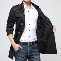 Wholesale Fall new man coat fashion mens wool coat overcoat long mens peacoat double breasted outwear for male