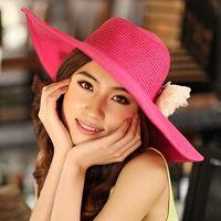 Wholesale Hot Sale Sun Hats Women Fashion New Lady Wide Brim Wool Felt Bowler Fedora Hat Floppy Cloche Beach Hats