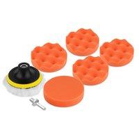 Wholesale 8 Set inch Buffing Pad Auto Car Polishing sponge Wheel Kit With M10 Drill Adapter Buffer hot selling