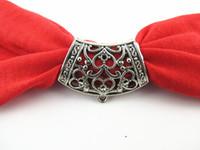 antique jewellery designs - 12PCS Fashion DIY Jewellery Necklace Scarf Pendant Antique Silver Zinc Alloy Heart Design Slide Bails Tube T2014