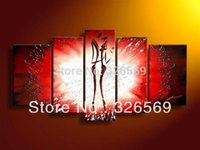 portrait background - red background lovers crafts Wall art Home Decoration100 handmade portrait oil painting Mother s day gift