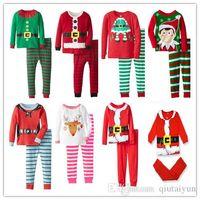 Wholesale Christmas Pajamas Tops Pants Pyjamas Boy Girl Autumn Winter Pajamas Kids Pajama Sets Xmas Pajamas Baby Sleepwear Kids Clothes Set B190