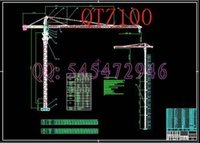 Wholesale QTZ100 tower cranes crane drawings Full Machining drawings ATUO CAD