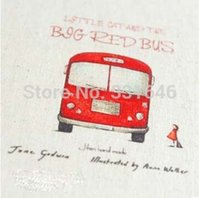 ab travel - High quality Bus Travel AB Designs Hand Dyed Cotton Linen Fabric Diy Sewing Craft Patchwork Applique FabricDiy Decal free ship