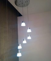Wholesale 6 ligts Led Pendant Lamp suspension lamp with Acrylic Shade for Dinning Room in