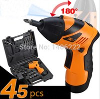 Wholesale 4 V Lithium Electricity Rechargeable Upgrade Foldable Screwdriver Batch Head Suit Small Electric Drill driver Sleeve order lt no tra