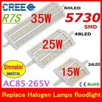 2015 Nouveau R7S LED 15W 25W 35W CRIS SMD5730 Dimmable led r7s 78mm J78 118mm J118 objectif 189 mm J189 la lumière d'une ampoule halogène Lampes de projecteur
