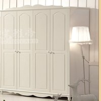 bedroom suites furniture - Factory direct special four suites Korean garden wood wardrobe closet wardrobe ivory four