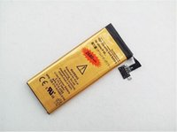 Wholesale 100pcs AAAAA Quality High Capacity Battery mah Gold Replacement Li ion Battery for iPhone S GS G S CFree DHL