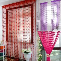 Wholesale Cute Heart Line Tassel String Door Curtain Window Room Divider Curtain Valance CM DHL