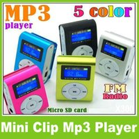 Wholesale Sport MP3 Music Player with LCD Screen Metal Mini Clip Metal Multicolor Portable MP3 Player with Micro TF SD Card Slot Free DHL OM CD2