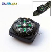Wholesale 10pcs Compass Slip Slide on Watch Band Wrist For Survival Paracord Bracelets