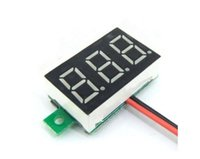 Wholesale 1pcs Red DC V LED Panel Voltage Meter Digital Display Voltmeter Portable Voltmeter