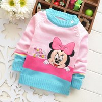 Wholesale pieces Autumn Winter Cotton Children Girls Knitted Sweater Pullover Sweaters Tops