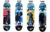 Wholesale Professional Adult Skateboard ply Canadian maple Deck Complete Wheel Trucks Bearing Grip double rocket skate board
