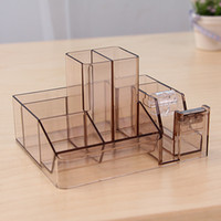 Wholesale simple style blank plastic office stationery pen accessories stand holder