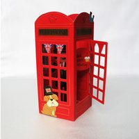 pop up booth - Cartoon Series Telephone Booth Handmade Kirigami Origami D Pop UP Birthday Greeting Cards set of