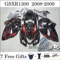 Wholesale Racing Fairing Kit Year GSXR1300 Hayabusa For SUZUKI ABS Black Hot Fire Color Injection Body Kit Fashion Cowling Gifts
