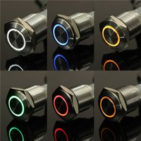 Cheap Angel Eye Metal LED illuminated Momentary 16mm Push Button Switch Car Dash 12V