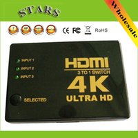Wholesale HDMI in K k D HDMI Switch Switcher Splitter with selector for HDTV DVD DLP Video Projector