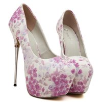 adorable prom dresses - Adorable floral pattern CM ultra high heel shoes sexy pumps prom dress shoes women